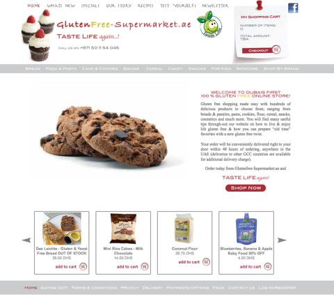 Dubai, gluten free, glutendree-supermarket.ae, Katinka Socrat, Taste Life