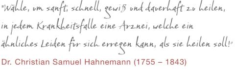 Globuli, Homöopathie, Hahnemann