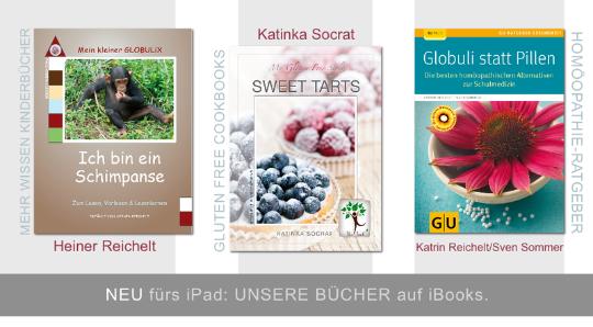 Globuli, Homöopathie, glutenfrei, gluten free, Reichelt, Bücher Globulix