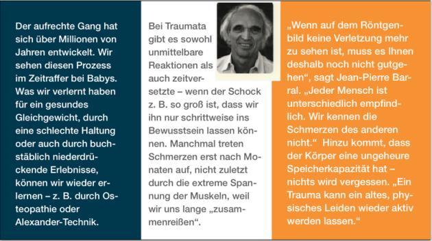 Trauma, Gelenke, Rücken, Schmerzen, Erinnerung, Jean Pierre Barral, Osteopathie, Homöopathie, Globuli, Globulix, Katrin Reichelt